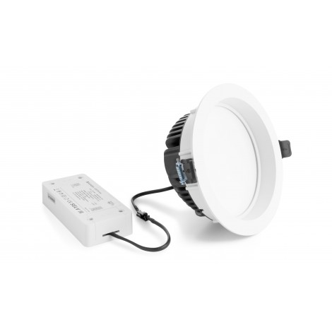 Verbatim 52498 LED Downlight IP44 220mm 40W 4000K 3900lm White DIM
